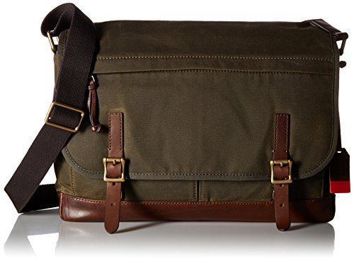 FOSSIL MENS DEFENDER MESSENGER BAG GREEN by Fossil