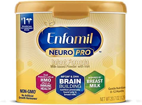 Enfamil NeuroPro Infant Formula - Brain Building Nutrition Inspired by Breast Milk - Reusable Powder Tub, 20.7 oz (Packaging May Vary)