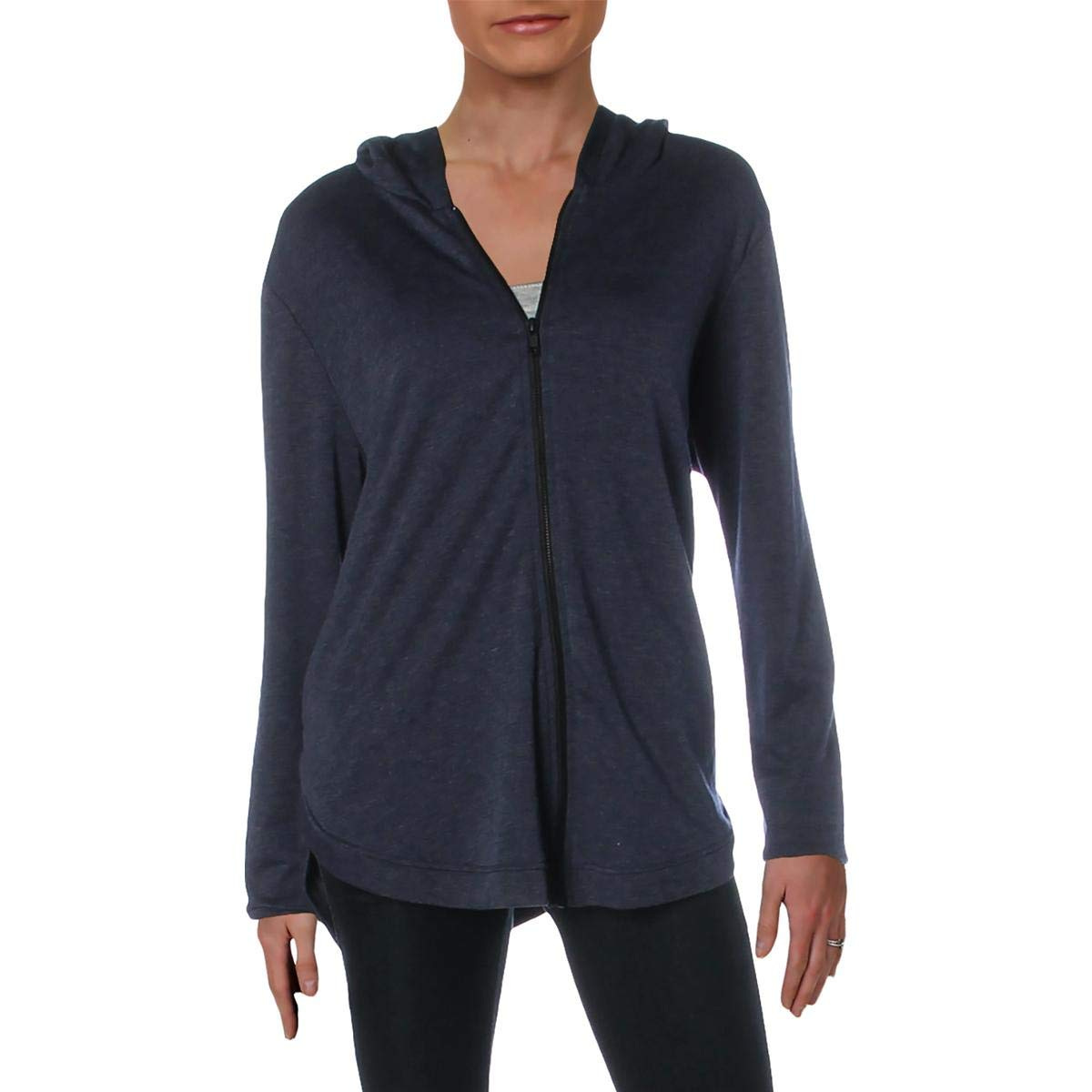 bluee Terez Womens Knit Heathered Hoodie