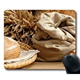 Custom Special Mouse Pad with Bread Bag Ears Roll Poppy Non-Slip Neoprene Rubber Standard Size 9 Inch(220mm) X 7 Inch(180mm) X 1/8 Inch(3mm) Desktop Mousepad Laptop Mousepads Comfortable Computer Mouse Mat