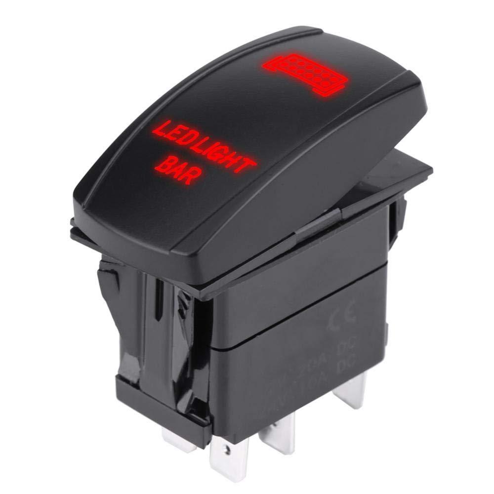 KIMISS 12V 24V /Étanche 5 broches Barre de Lumi/ère LED Interrupteur /à Bascule SPST ON-OFF pour camion bateau voiture Vert