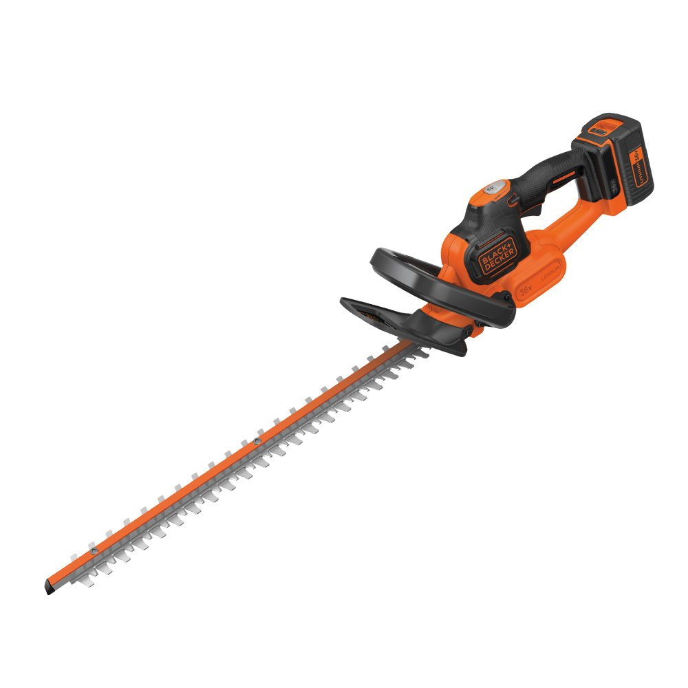 BLACK+DECKER 36 V Lithium-Ion Anti-Jam Hedge Trimmer with 2 Ah Battery, 55 cm GTC36552PC-GB
