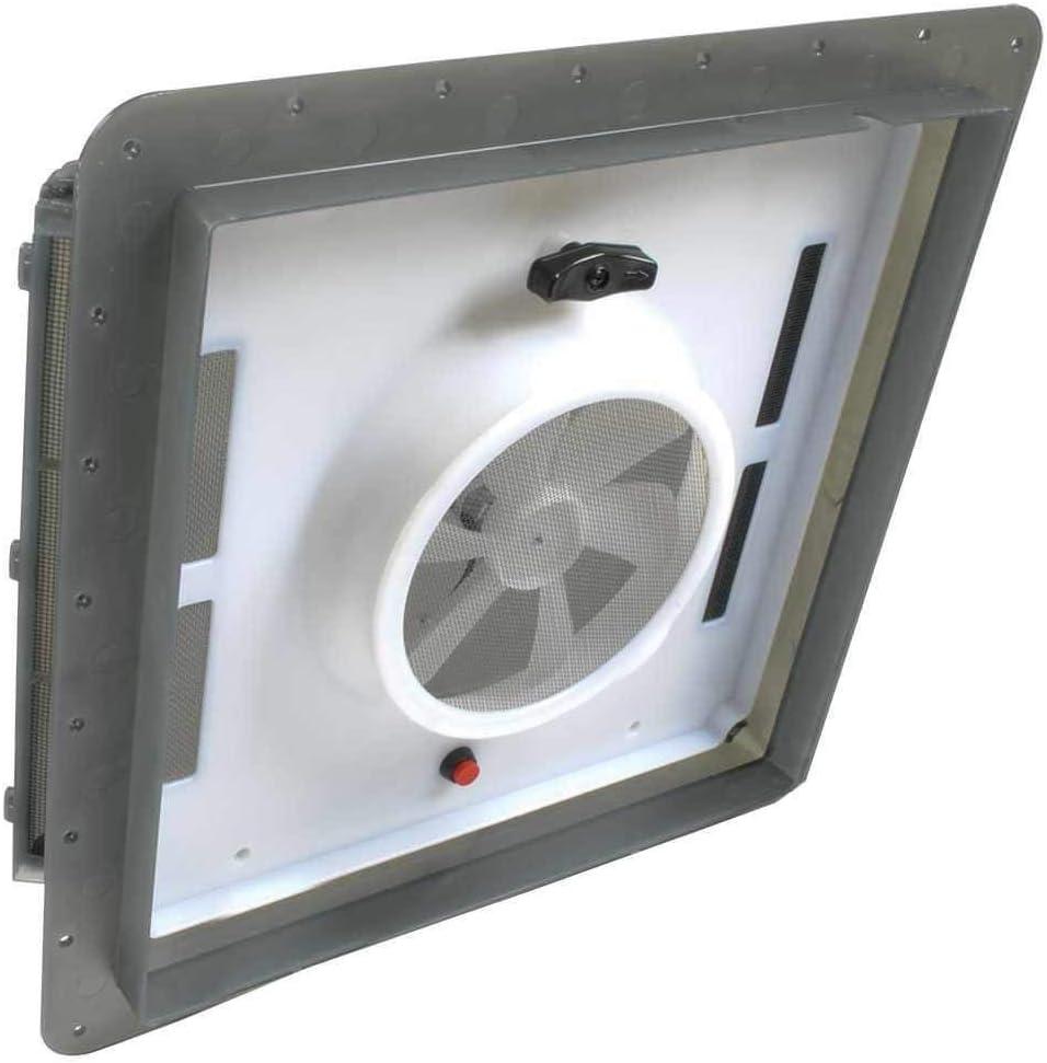 """Dometic 800601 EZ-Breeze Ventilation Fan Model 600-14"""" x 14"""", Smoke"""