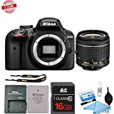 Nikon D3400 24MP Digital SLR Camera with 18-55mm VR Lens| 16GB MC and Cleaning Kit Bundle