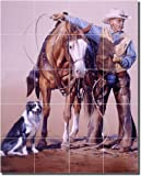 ''Three to Get Ready'' by John Fawcett - Artwork On Tile Ceramic Mural 21.25'' x 17'' Kitchen Shower Backsplash