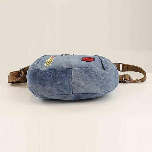 b80d55237 Bluebags Bandolera vaquera con emojis, Women's Messenger Bag, Blue (Jeans):  Amazon.co.uk: Shoes & Bags
