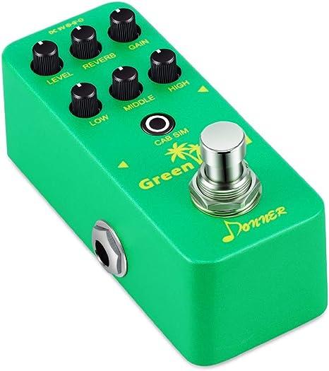 Pedal de efectos para guitarra eléctrica, color verde: Amazon.es ...