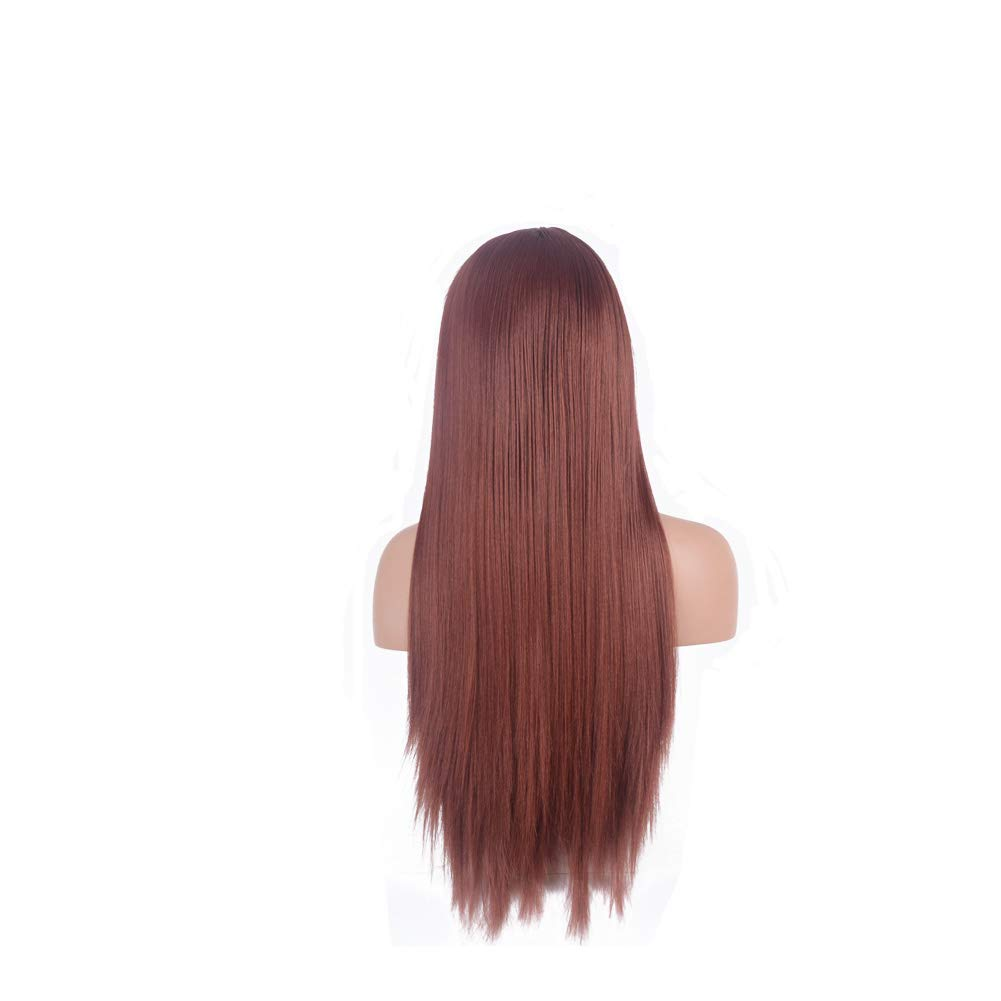 FUHSI Kanekalon Fiber 13×6 Inch Lace Real Natural For Women – Soft & Smooth, Straight Lace Front Wig, Elastic Straps, Comfortable & Adjustable For Perfect Fit –60# Blonde 250D 22 FUHSI Hair