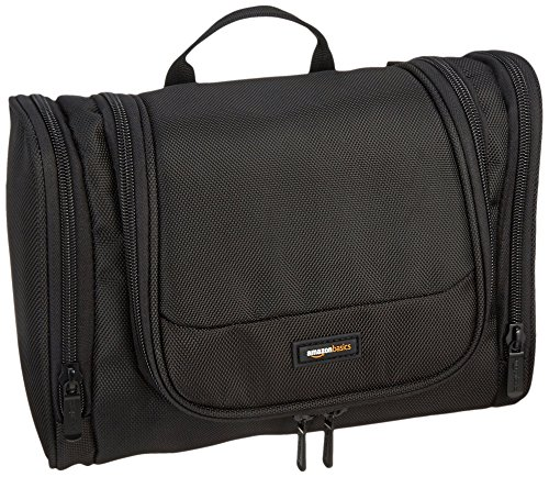 (AmazonBasics Hanging Travel Toiletry Kit Bag - Black)