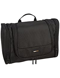 AmazonBasics Hanging Toiletry Kit, Black