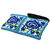 Sabai Jai - Small Accessory Bag - Floral Embroidered Wristlets for Women