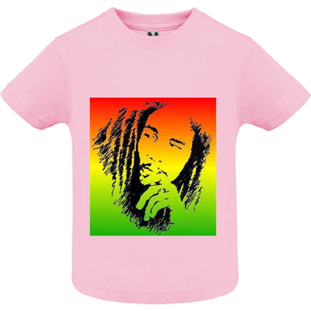 Manche Courte B/éb/é Fille 2ans Col Rond access-mobile-ile-de-re.fr T-Shirt Reggae 65 Rose