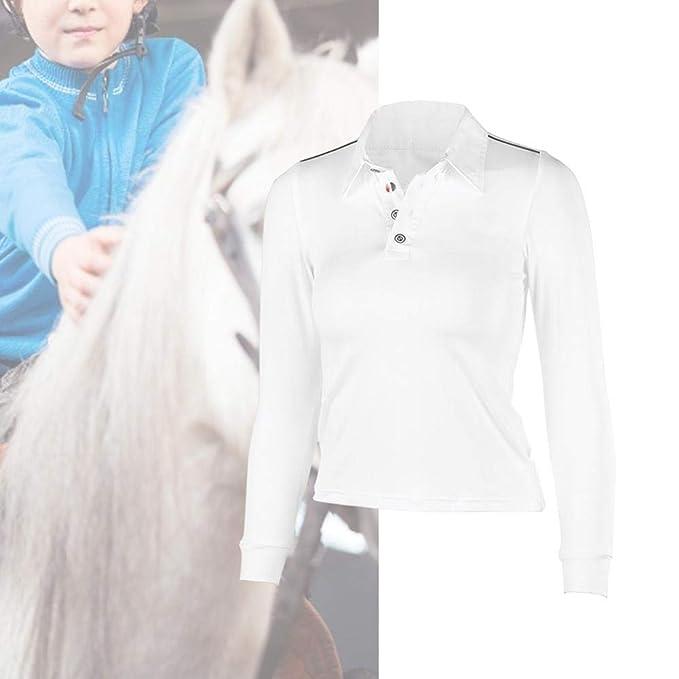 Camiseta de Polo, Manga Larga Camiseta Deportiva de Polo para ...