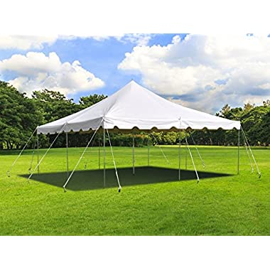 20 ft by 20 ft White Canopy Pole Tent Complete Set with Storage Bag  sc 1 st  GoSale.com & pole tents | Compare Prices on GoSale.com
