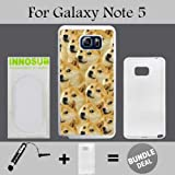 Mr Doge MEME Custom Galaxy Note 5 Cases-White-Rubber,Bundle 2in1 Comes with Custom Case/Universal Stylus Pen by innosub