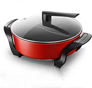 Hchao Electric hot Pot, Household Duck Plug-in Electric Pot, Multi-Function Rice Cooker, Non-Stick Rice Cooker, Integrated Rice Cooker, red.