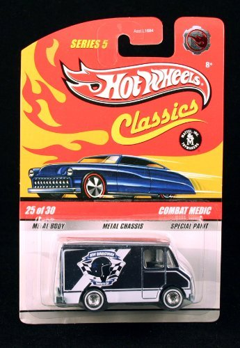 (Foil Chase Piece) COMBAT MEDIC w/ REAL RIDER RUBBER TIRES #25 of 30 Hot Wheels Classics 1:64 Scale Die Cast Vehicle