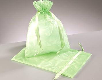 12 grande luz verde Organza favor bolsas de regalo   Organza ...