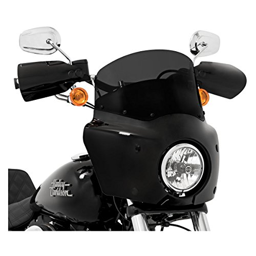Windshield 9 Shades Memphis - Memphis Shades Dark Smoke 9 Inch Windshield for Road Warrior Fairing: Harley Davidson Dyna 2006 and Later (More Size Options)