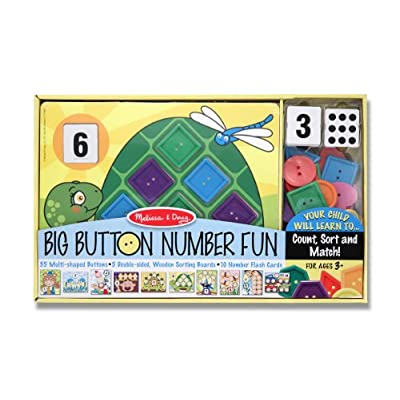 Melissa & Doug Big Button Number Fun Counting and Matching Activity Set: Melissa & Doug: Toys & Games