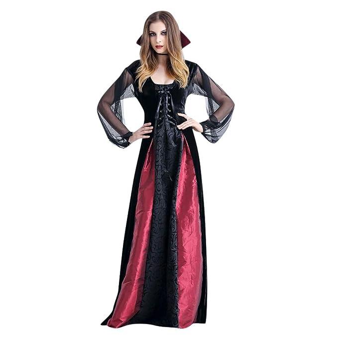 Halloween Disfraz Mujer Vestido Largo Vintage Vestido Gotico Jugar ...