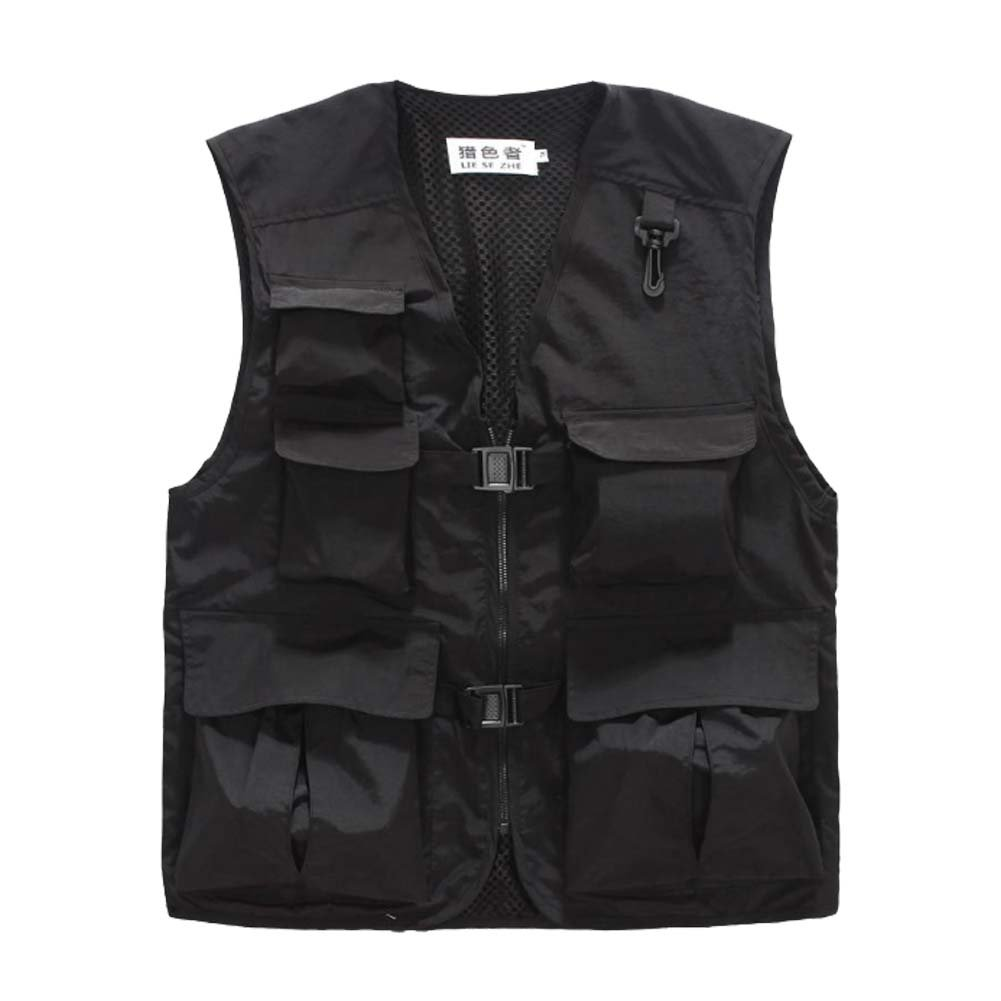 Breathable Mesh Outdoor Men Fishing Photographer Vest Waistcoat Black 3XL PANDA SUPERSTORE PS-SPO3258946011-ALAN02202