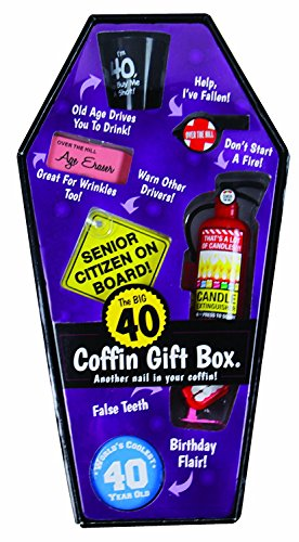 Big Mouth Toys Gift Box Coffin - 40 Birthday Aging Prank Gag (Hill Coffin Gift)