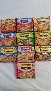 Ramen Noodle Soup Variety Pack, 10 Pack- This Specific 10 Pack Includes The Following Flavors: Beef, Beef (35% Less Sodium), Chicken, Chicken (35% Less Sodium), Chili, Creamy Chicken, Oriental, Picante Chicken, Pork, Shrimp