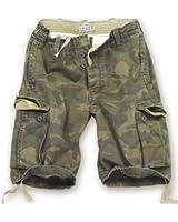 Surplus Vintage Short pour homme Motif camouflage, vert