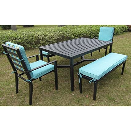 Amazoncom Mainstays Rockview 5Piece Patio Dining Set Black