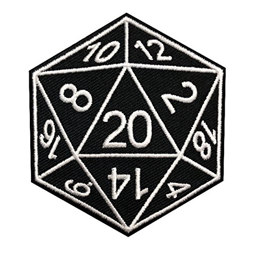 Miltacusa Stranger D&D Dice Embroidered Iron on Sew on Patch (Embroidered Dragon Patches)