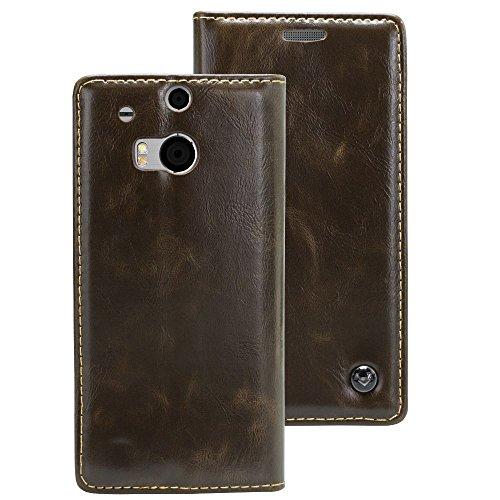 HTC One M8 Mobilefox Luxus Tasche Geldbeutel Schutz Hülle Case Etui Bumper Schale Cover
