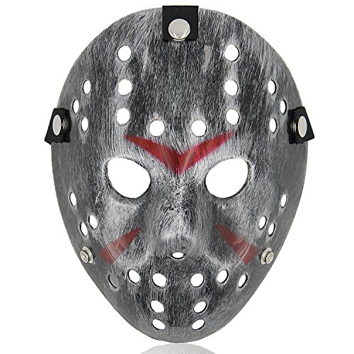 Costume Mask Halloween Costume Cosplay Hockey Mask Silver -