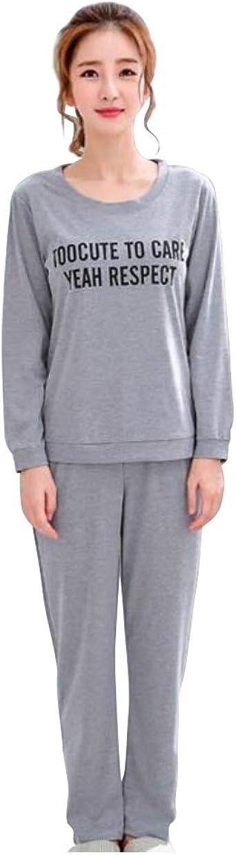 Pijama De Algodón De Manga Larga para Mujer Pijama De Jersey De Jersey: Amazon.es: Ropa y accesorios