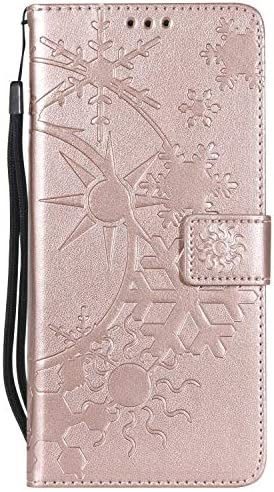 Galaxy Note 8 ケース手帳型 OMATENTI レザー 革 薄型 財布型カバー カード入れ スタンド機能, 全面保護 おしゃれ 手帳ケース, 液晶保護 Samsung Galaxy Note 8対応, ローズゴールド