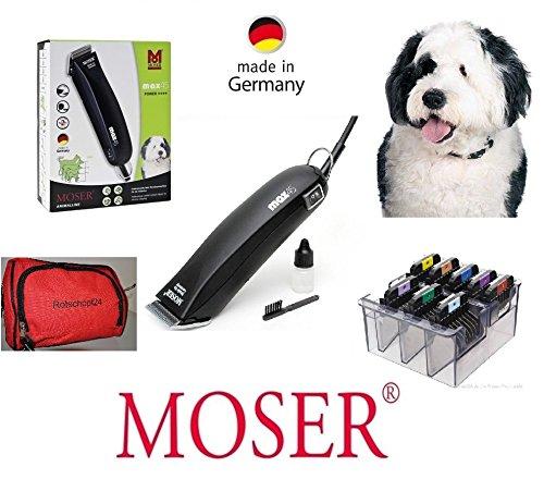 Rotschopf24 Edition: Netzbetriebene Profi - Motor - Tierschermaschine Moser MAX 45 - Typ 1245 + 8 Metallaufsteckkämme!
