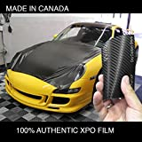 VVIVID XPO Black Carbon Fiber Car Wrap Vinyl Roll Featuring Air Release Technology (6ft x 5ft)