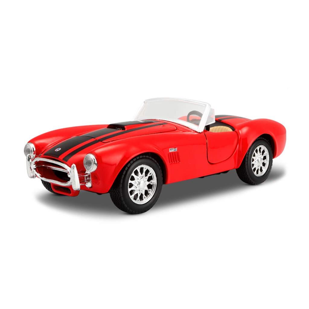 venta caliente rojo HTDZDX Modelo de Coche Coche 1 1 1 24 Shelby Cobra 427 aleación de simulación de fundición de Juguete joyería joyería de colección de Coche Deportivo 17.5x7x5CM (Color   rojo)  marca