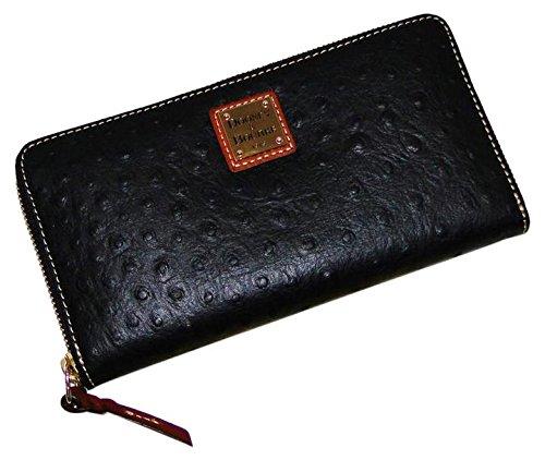 Bourke Dooney Zip Wallet Around (Dooney & Bourke Ostrich Zip Around Wallet Black)