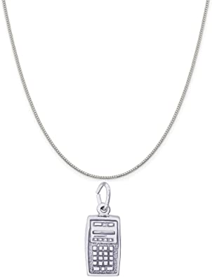 Rembrandt Sterling Silver Two-Tone Diploma Charm on a Sterling Silver Rope Chain Necklace