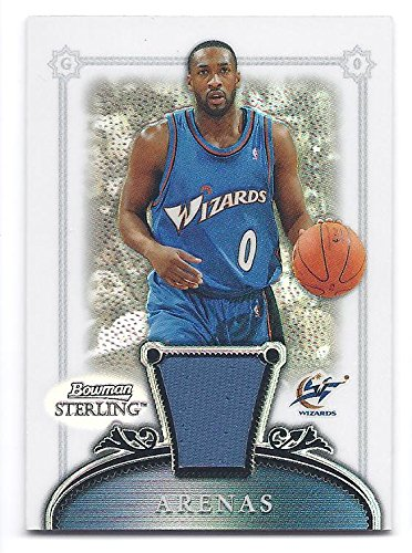 GILBERT ARENAS 2006-07 Bowman Sterling #23 REFRACTOR PARALLEL Jersey Card #172 of only 199 Made! Washington Wizards Basketball