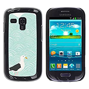 Paccase / SLIM PC / Aliminium Casa Carcasa Funda Case Cover para - Modern Art Seagull Waves Blue Sea - Samsung Galaxy S3 MINI NOT REGULAR! I8190 I8190N