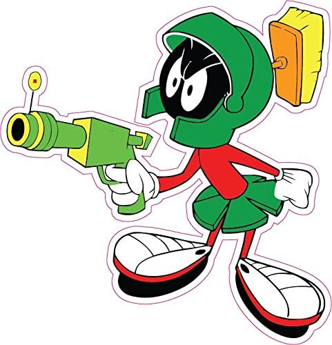 """Marvin the Martian F You Decal Large 10/"""""""