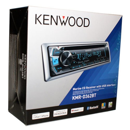 Kenwood KMR-D362BT Marine CD Receiver with Built-in Bluetooth