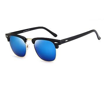 Gafas de Sol Polarizadas Forepin® para Mujer y Hombre (Azul) Gafas Retro Sunglasses