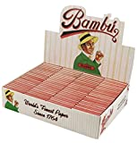 100pc Display - Bambu Classic Regular Rolling Papers