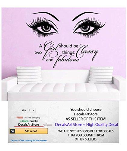 Amazon.com: Eye Wall Decals Make Up Fashion Beauty Cosmetics Girl ...