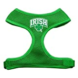 Mirage Pet Products Irish Arch Screen Print Soft Mesh Dog Harnesses, Medium, Emerald Green