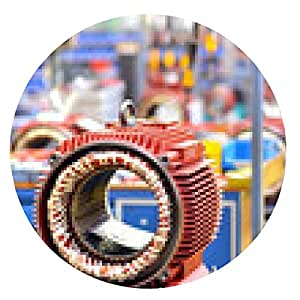 alfombrilla de ratón Ingeniería de motores eléctricos / Ingeniería - ronda - 20cm