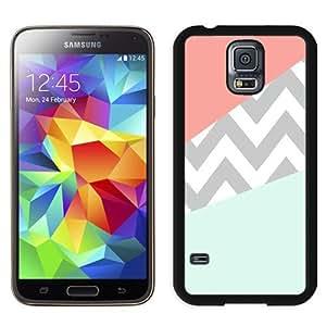 Case Coral Mint Grey Chevron Black Best Sale Fantastic Samsung Galaxy S5 Cover Case